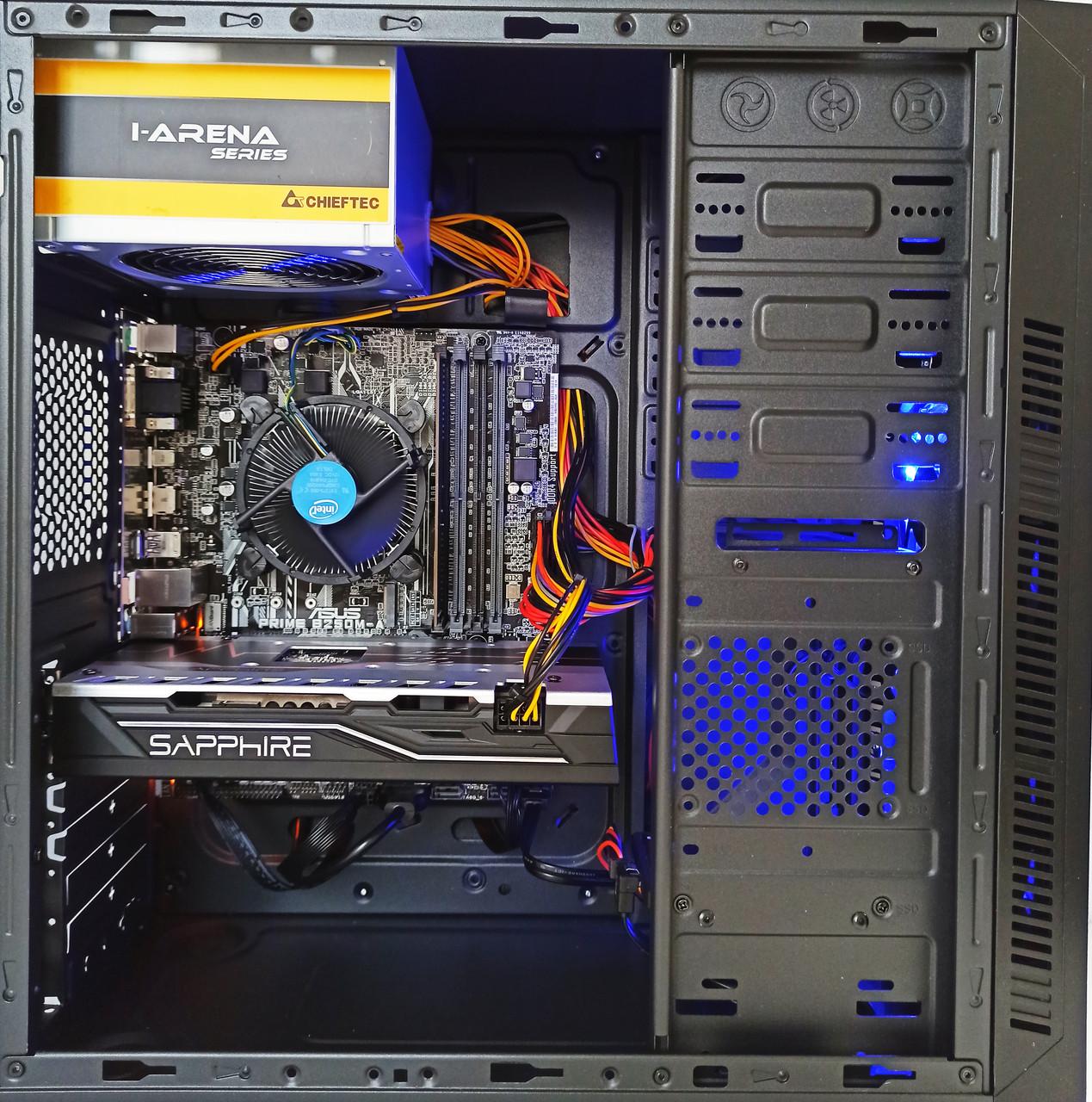 Игровой компьютер БУ intel Core i3 6100 , AMD RX580 8GB , 8GB DDR4 , SSD 240 GB
