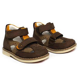 Шкіряні ортопедичні черевички для хлопчика, продано