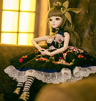 Шарнирная кукла BJD Кристи рост 60 см, коричневый цвет волос + одежда и обувь в подарок 1 /3