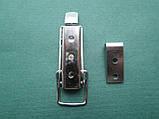 Нержавіюча засувка патефонная для навісного замку з отвором для пломби, фото 6