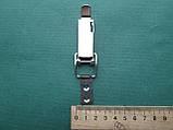 Нержавіюча засувка патефонная для навісного замку з отвором для пломби, фото 4