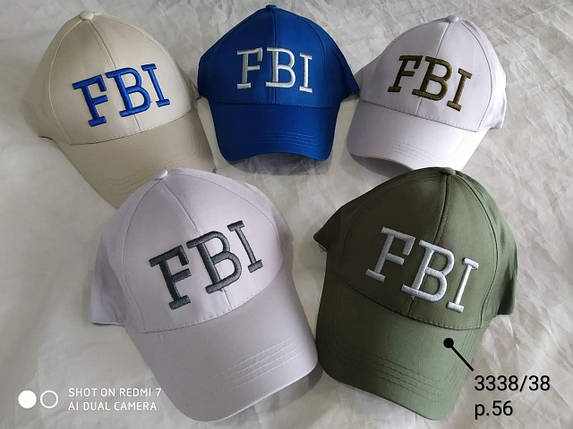 Кепка для мальчика FBI,р.56,коттон, фото 2