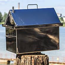 Домашняя Коптильня горячего копчения Крышка Домиком с гидрозатвором 1.5мм из нержавейки