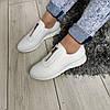 Туфлі білі жіночі натуральні шкіряні 40