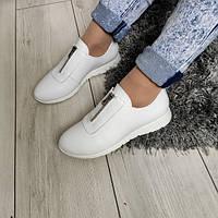 Туфлі білі жіночі натуральні шкіряні 40, фото 1