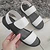 Босоніжки шкіряні низькі жіночі білі 40