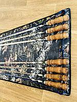 Набор шампуров с деревянной ручкой (7 шт)