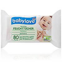 Влажные салфетки Babylove Sensitive с алоэ, 80 шт. - 33372