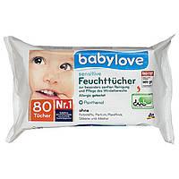 Влажные салфетки Babylove Sensitive с пантенолом, 80 шт. - 32348