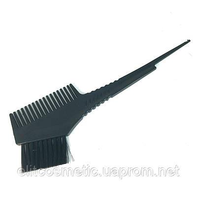 Кисть-расчёска для окрашивания волос DenIS professional  с чёрной щетиной(дешовая)