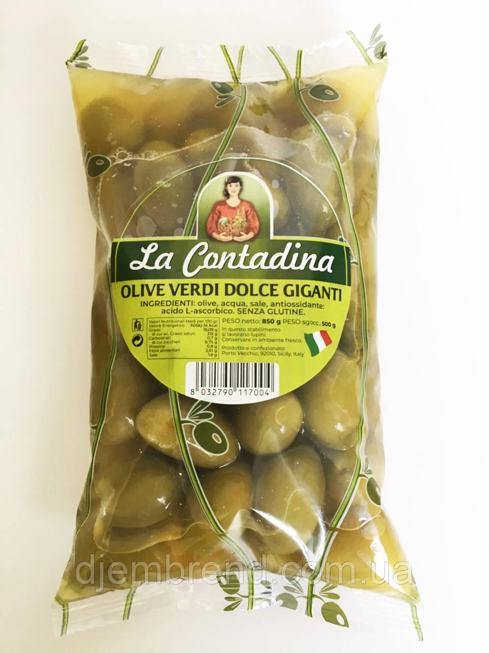 Гиганские зеленые оливки Olive Verdi Dolci Giganti, 500г.