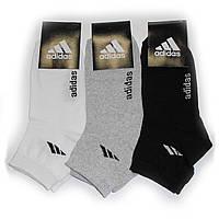 Мужские носки с надписью Adidas - 8,25 грн./пара (светлое ассорти), фото 1