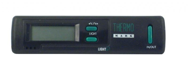 Термометр автомобільний CarCommerce внутрішній та зовнішній з підсвіткою на батарейках 1,5V ААА 42419