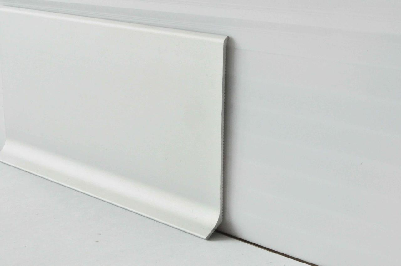 Напольный алюминиевый плинтус накладной Profilpas 80 мм анодированный 2000 мм 90/8
