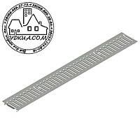 Решетка водоприемная Basic РВ-10.14.100-К-штампованная стальная оцинкованная 20101