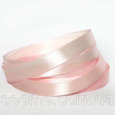 Лента атласная 12 мм, цвет blush