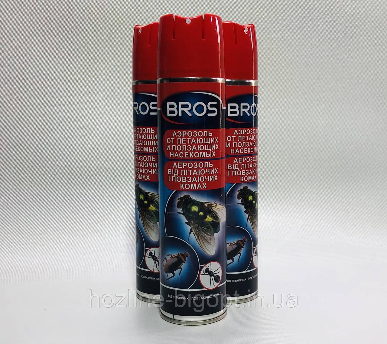 BROS Аэрозоль Инсектицид Универсальный 400 мл.