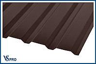 Профнастил стеновой ПС-20 RAL 8017 Цвет шоколадно-коричневый (матовый).