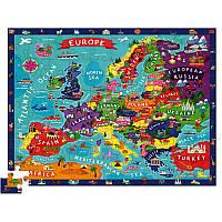 Пазл-игра для детей Crocodile Creec «Европа» (100 деталей)