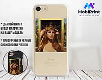 Силиконовый чехол для Apple Iphone 7 Ренессанс-Лана дел Рей (Lana Del Rey) (4007-1590)