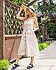 Стильный коттоновый сарафан миди бежевого цвета размер 44 46 48, фото 3