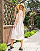 Стильный коттоновый сарафан миди бежевого цвета размер 44 46 48, фото 4