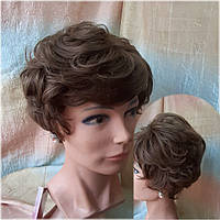 Парик из натуральных волос пышный русый 550V HH-8