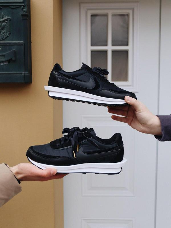 """Кроссовки Nike Sacai x LDWaffle """"Черные"""""""