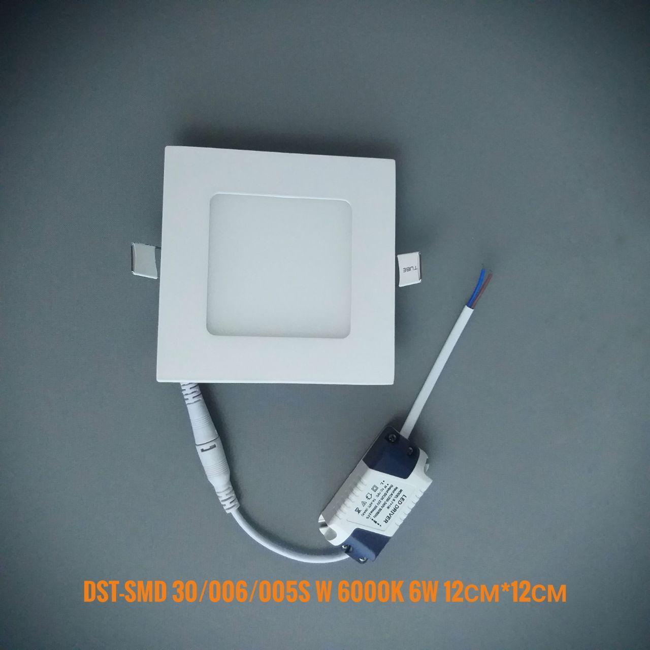 Светодиодная панель квадрат врезной DST-SMD30/006/005S W 6000K 6W