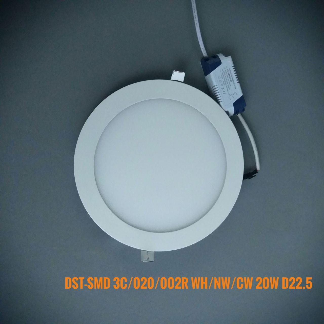Світлодіодна панель коло врізний DST-SMD3C/020/002R WW/NW/CW 20W