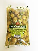 Оливки желтые с косточкой Olive Verdi Dolci Giganti, 500г.