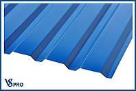Профнастил стеновой ПС-20, RAL 5005 Сигнальный синий цвет глянец.