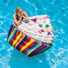 Пляжный надувной матрас «Кекс»,Intex 58770, серия «Десерт», 142 х 135 см