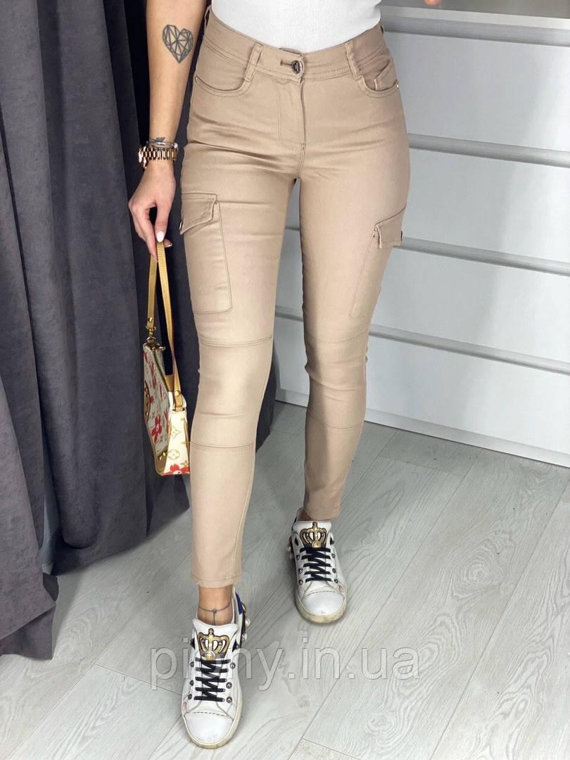 Женские Джинсы с накладными карманами