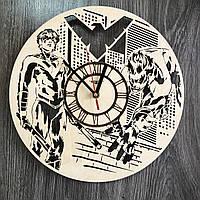 Настенные часы 7Arts из дерева в интерьер Найтвинг CL-0332, КОД: 1474491