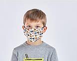 Респиратор защитная маска KN95 евро стандарт FFP2   5 слоев Цветная, фото 3