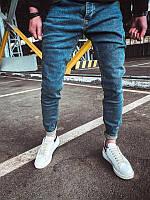 Мужские зауженные джинсы (синие) - Турция 0043