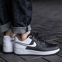 Nike Air Force 1 Low Black White | мужские кроссовки; черные/черно-белые; осенние/весенние