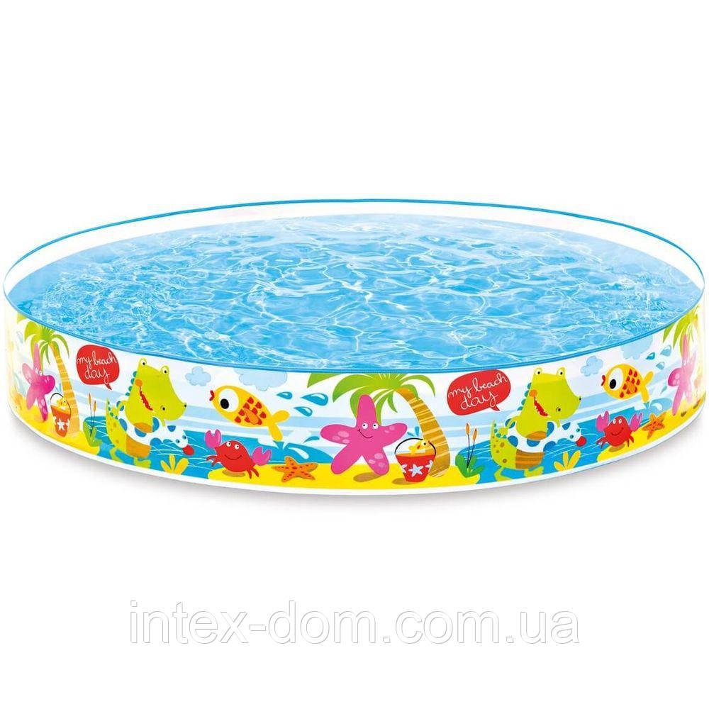 """Intex 56451. Детский каркасный бассейн """"Пляж на мелководье""""(152х25)"""