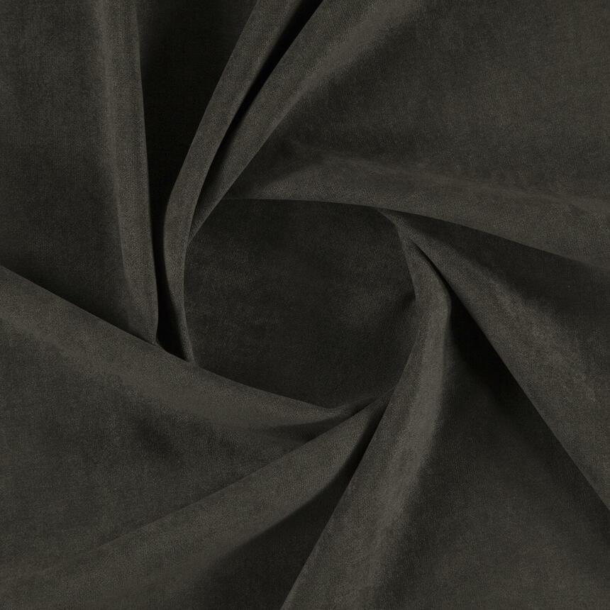 Ткань для мебели велюр вязанный Пик (Peak) темно-коричневого цвета