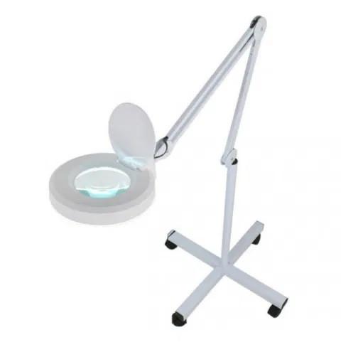 Напольная лампа лупа диодная передвижная на штативе с LED диодами