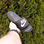 Женские летние шлепанцы Nike (черно-белые) 50001, фото 4