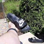 Женские летние шлепанцы Nike (черно-белые) 50001, фото 8