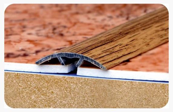 """Стыкоперекрывающий полукруглый алюминиевый порог с открытой системой монтажа """"Модель ПА 40"""""""
