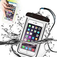 Водонепроницаемый чехол для телефона, голубой с прозрачным, Чехлы