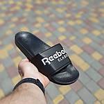 Мужские летние шлепанцы Reebok (черно-белые) 40013, фото 2