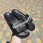 Мужские летние шлепанцы Reebok (черно-белые) 40013, фото 4