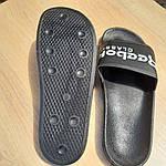Мужские летние шлепанцы Reebok (черно-белые) 40013, фото 7