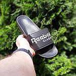 Мужские летние шлепанцы Reebok (черно-белые) 40013, фото 9
