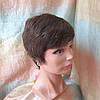 Парик из натуральных волос стрижка короткая каштановый 3771HH-6, фото 5